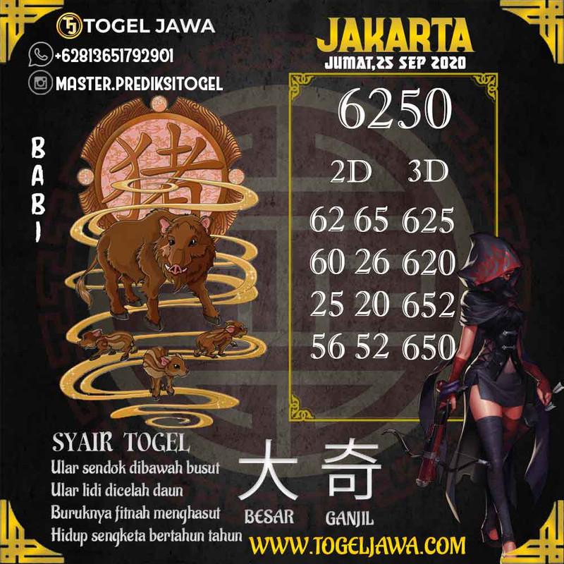 Prediksi Jakarta Tanggal 2020-09-25