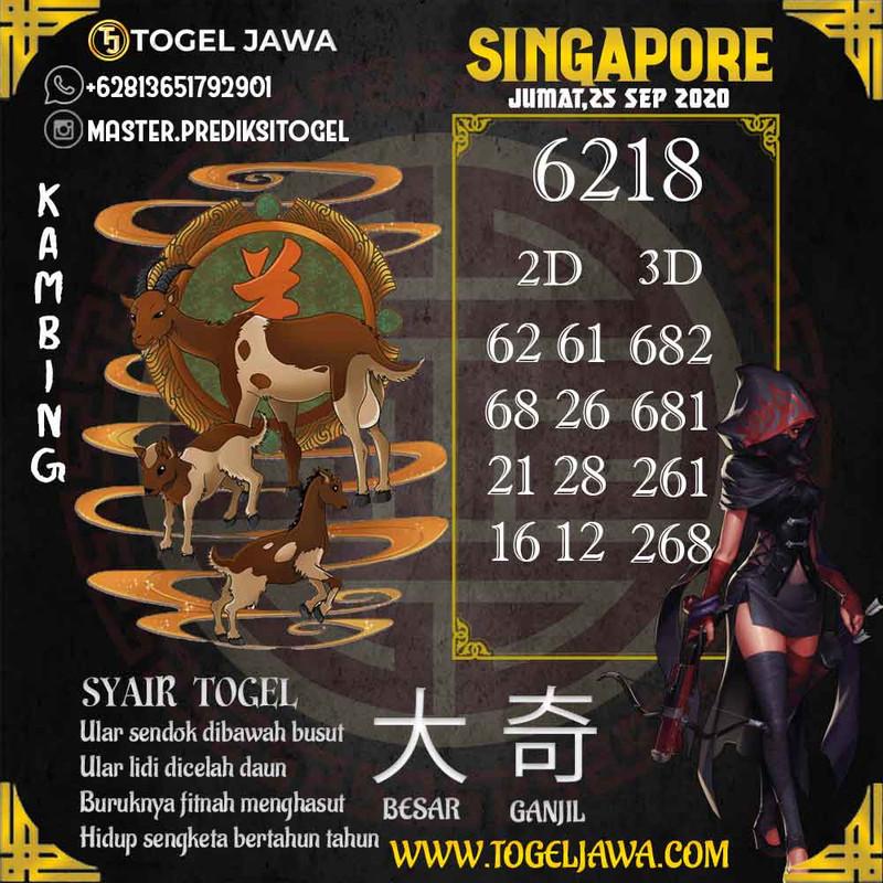 Prediksi Singapore Tanggal 2020-09-25