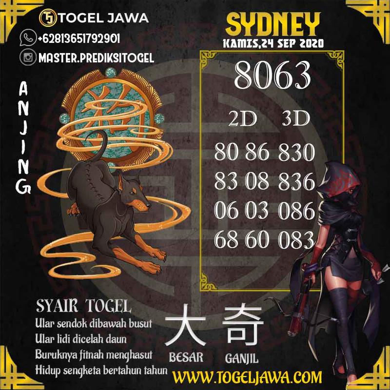 Prediksi Sydney Tanggal 2020-09-24