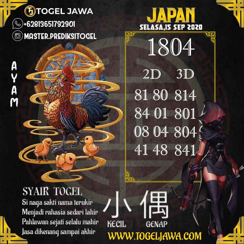 Prediksi Japan Tanggal 2020-09-15