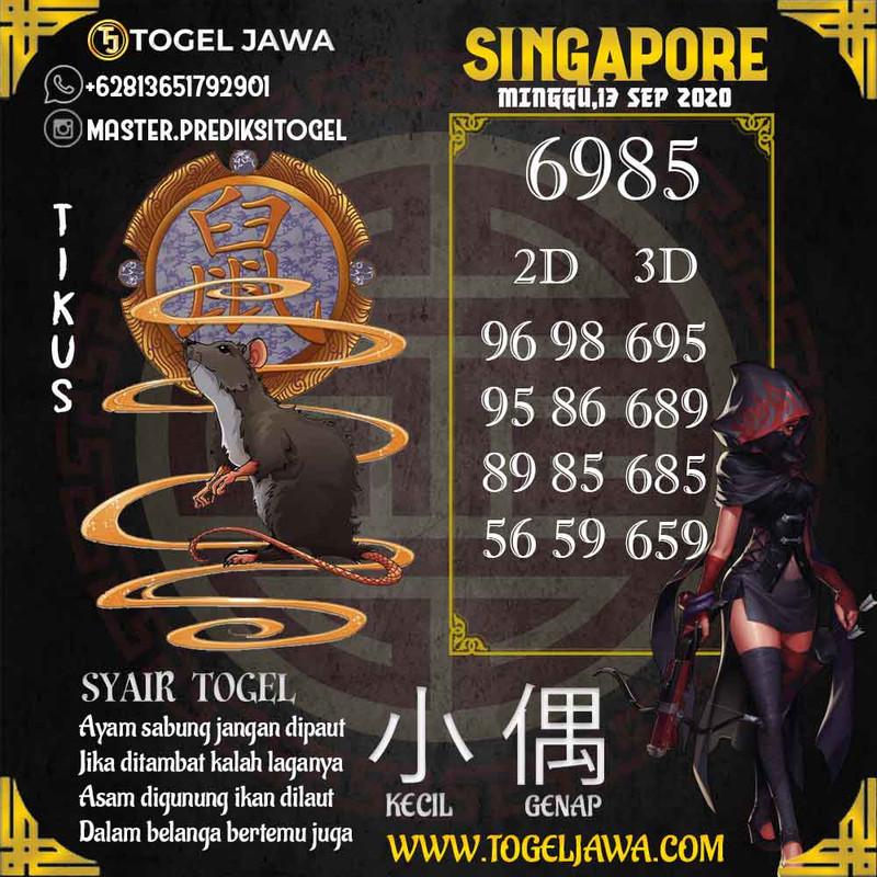 Prediksi Singapore Tanggal 2020-09-13