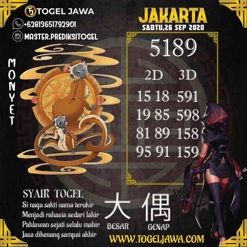 Prediksi Jakarta Tanggal 2020-09-26