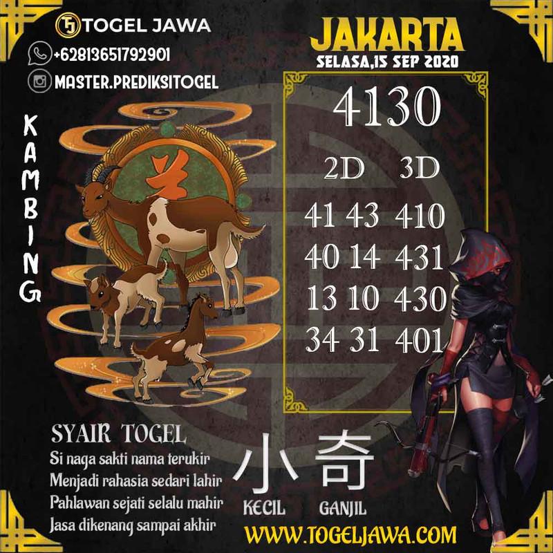 Prediksi Jakarta Tanggal 2020-09-15