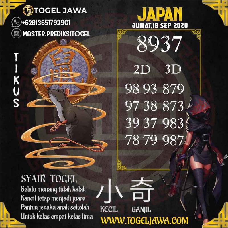 Prediksi Japan Tanggal 2020-09-18