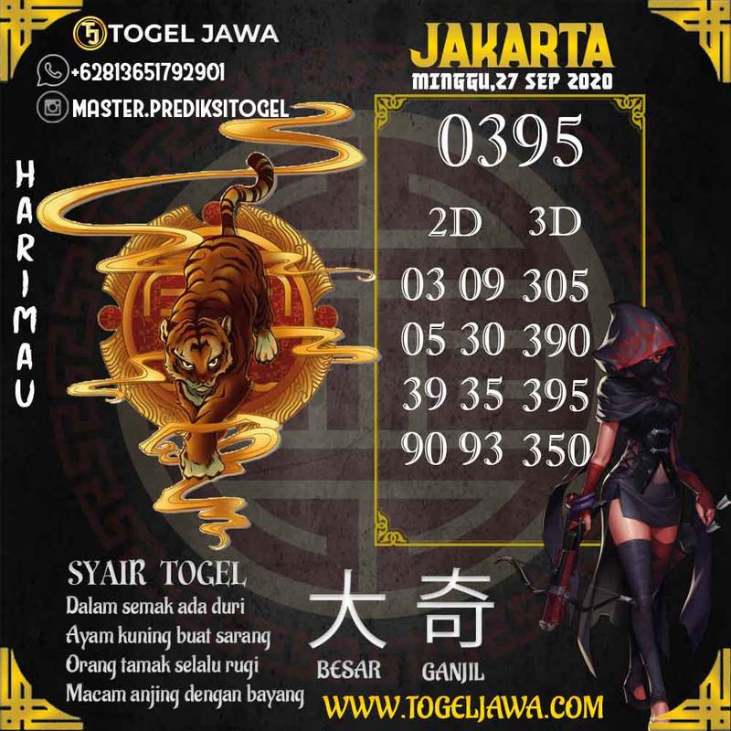 Prediksi Jakarta Tanggal 2020-09-27