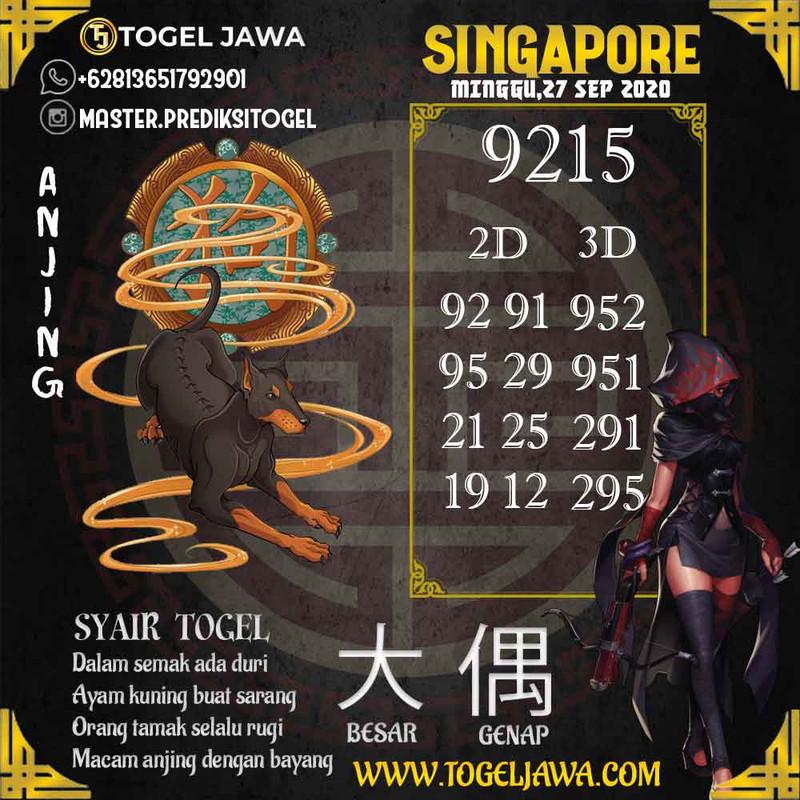 Prediksi Singapore Tanggal 2020-09-27