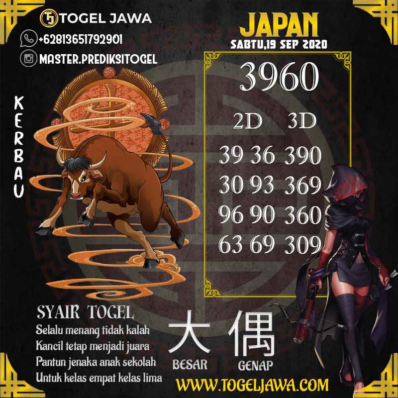Prediksi Japan Tanggal 2020-09-19