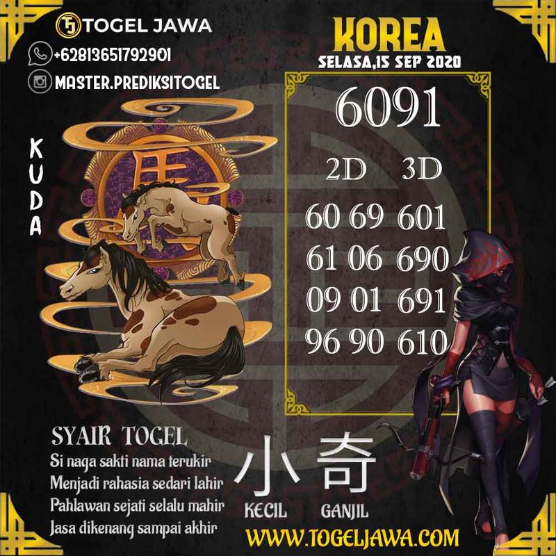 Prediksi Korea Tanggal 2020-09-15