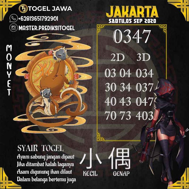 Prediksi Jakarta Tanggal 2020-09-05