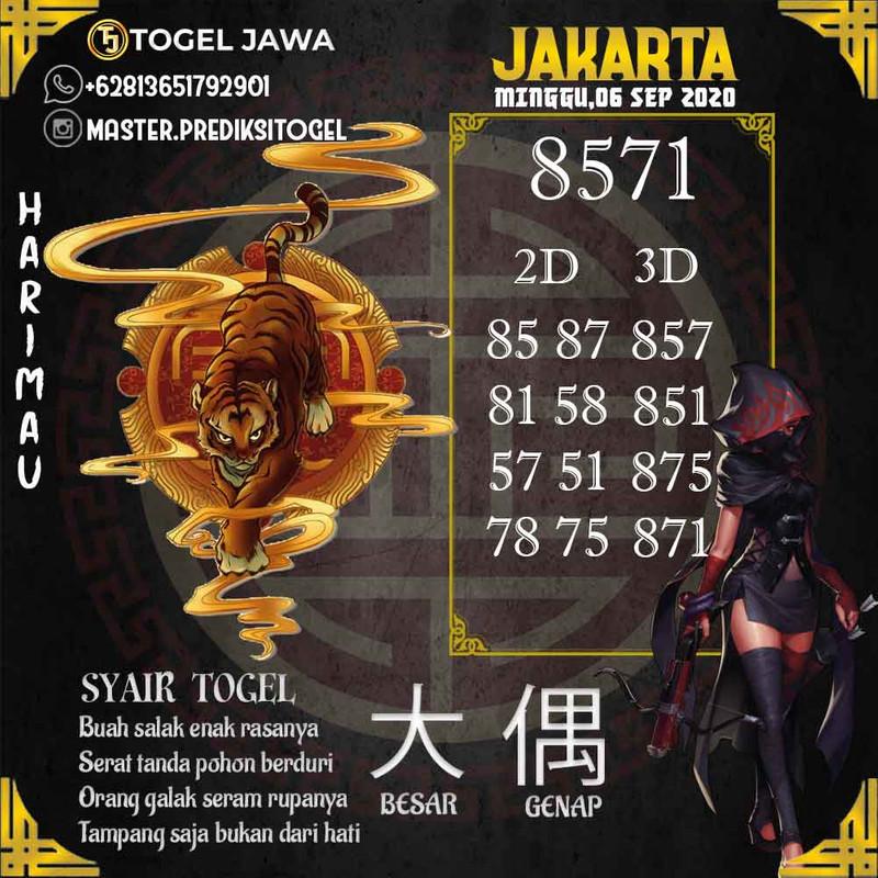 Prediksi Jakarta Tanggal 2020-09-06