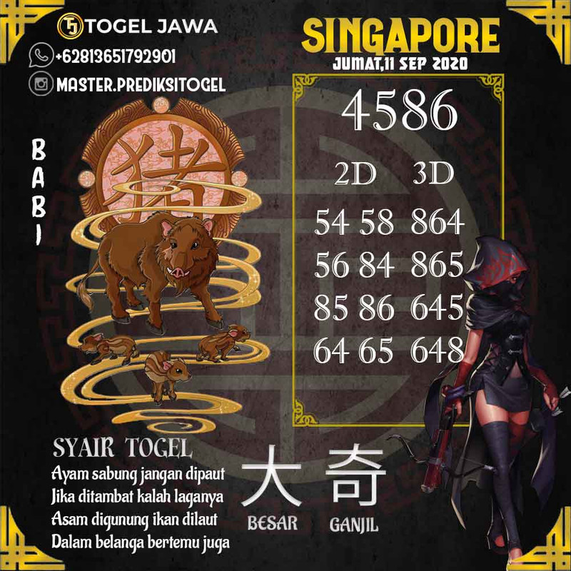 Prediksi Singapore Tanggal 2020-09-11