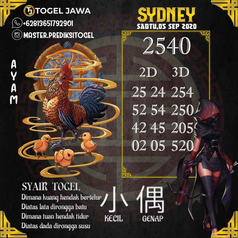 Prediksi Sydney Tanggal 2020-09-05