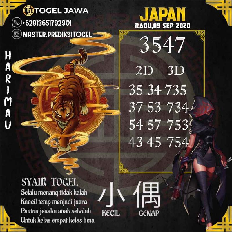 Prediksi Japan Tanggal 2020-09-09