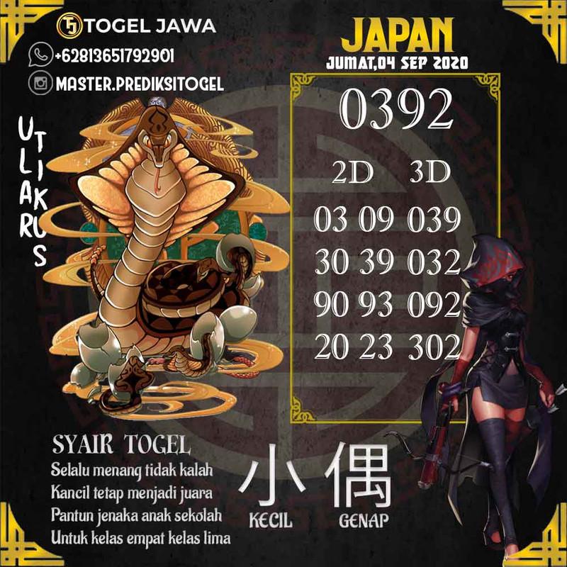 Prediksi Japan Tanggal 2020-09-04