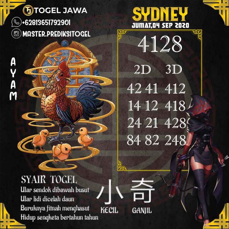 Prediksi Sydney Tanggal 2020-09-04