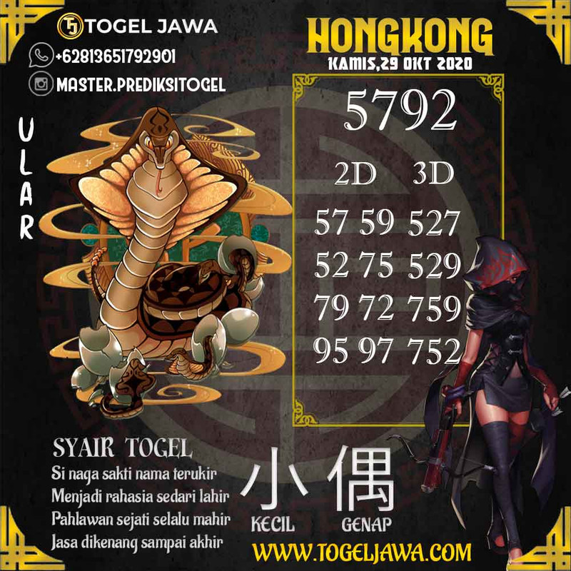 Prediksi Hongkong Tanggal 2020-10-29
