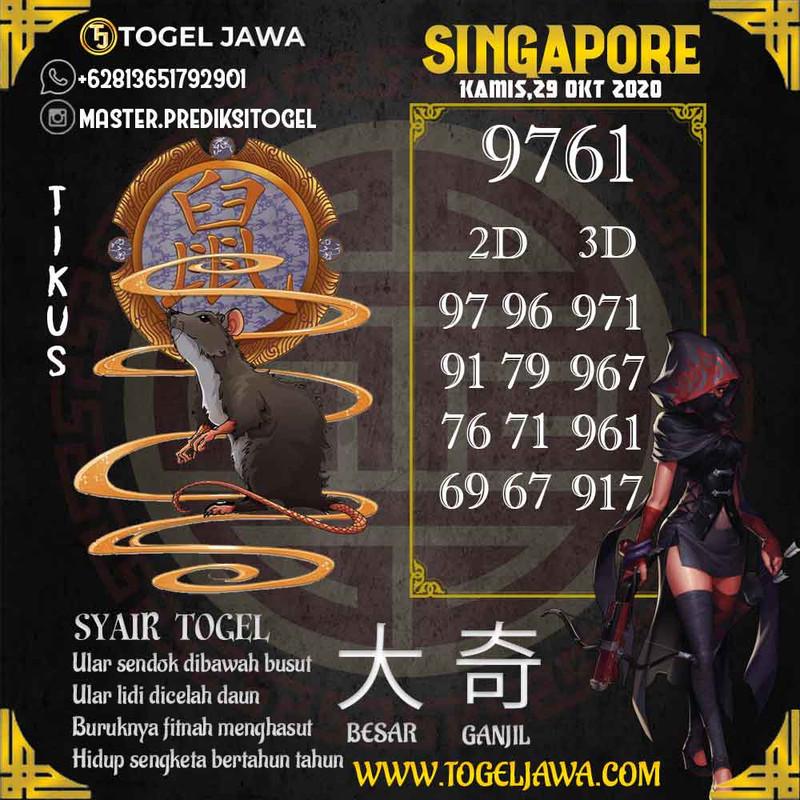 Prediksi Singapore Tanggal 2020-10-29