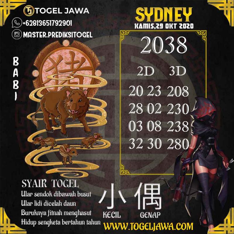 Prediksi Sydney Tanggal 2020-10-29