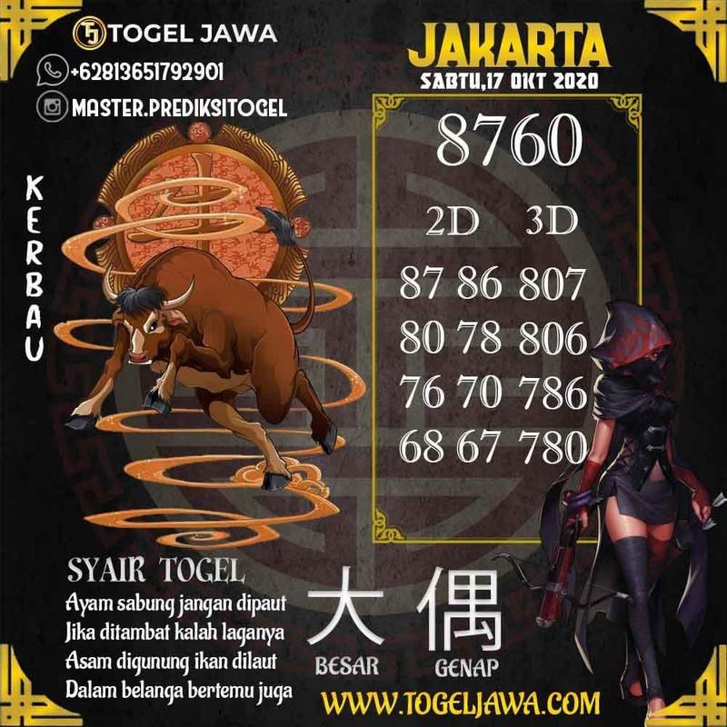 Prediksi Jakarta Tanggal 2020-10-17