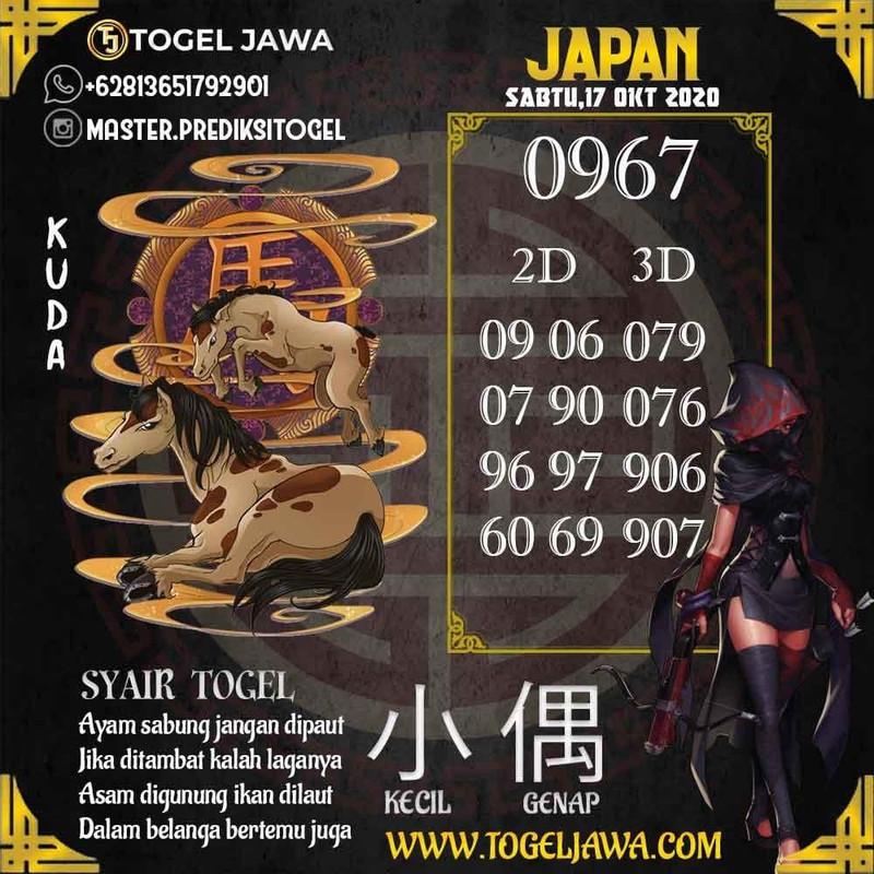 Prediksi Japan Tanggal 2020-10-17