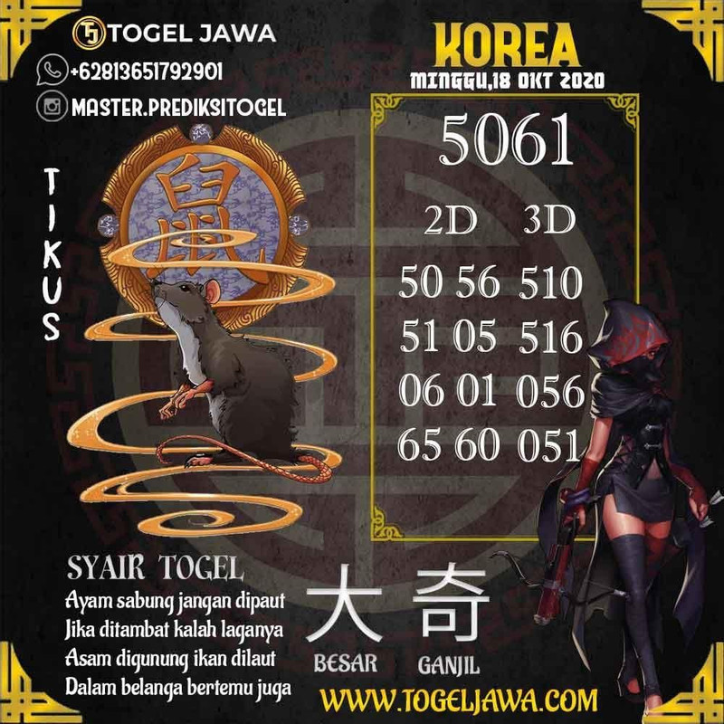 Prediksi Korea Tanggal 2020-10-18