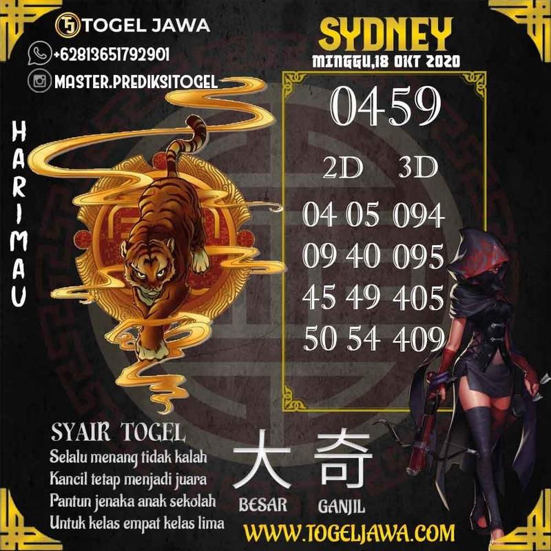 Prediksi Sydney Tanggal 2020-10-18