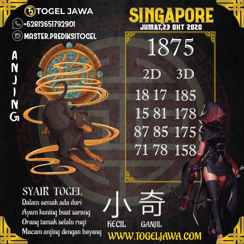 Prediksi Singapore Tanggal 2020-10-23