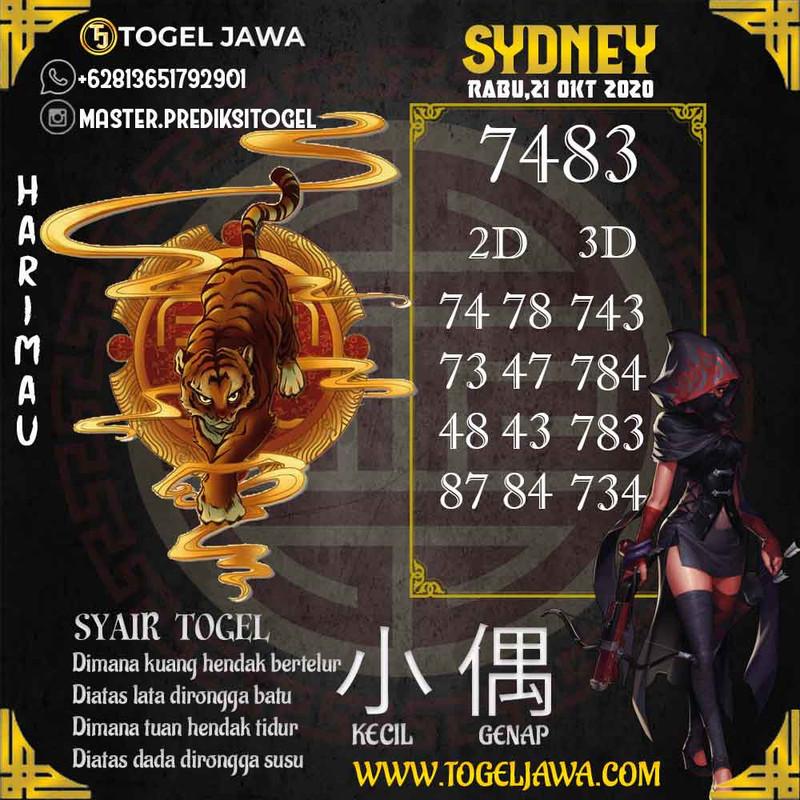 Prediksi Sydney Tanggal 2020-10-21