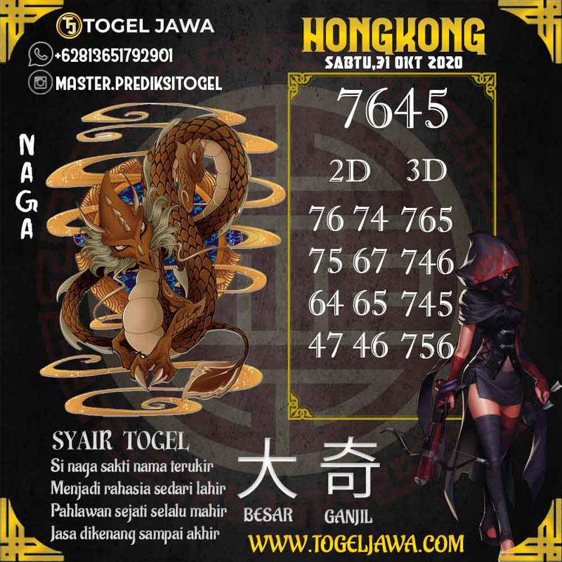 Prediksi Hongkong Tanggal 2020-10-31