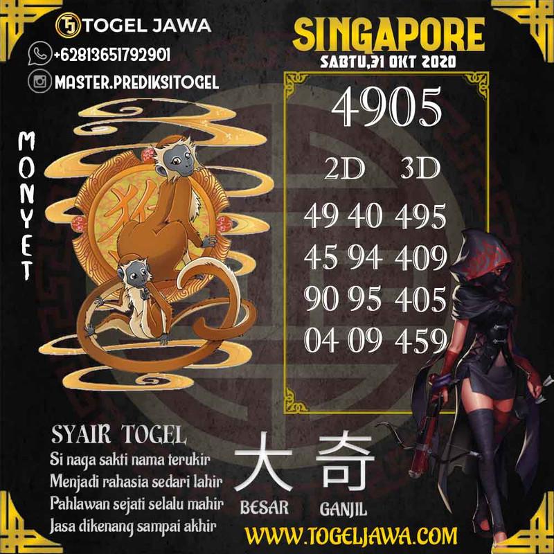 Prediksi Singapore Tanggal 2020-10-31