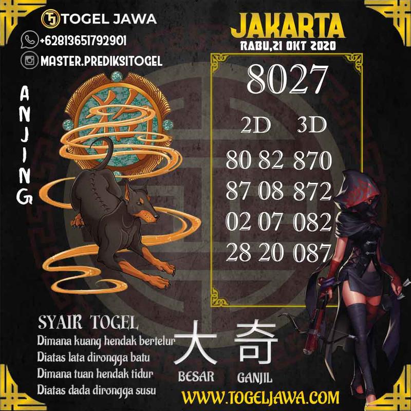Prediksi Jakarta Tanggal 2020-10-21