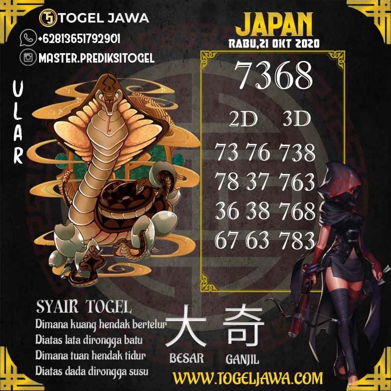 Prediksi Japan Tanggal 2020-10-21