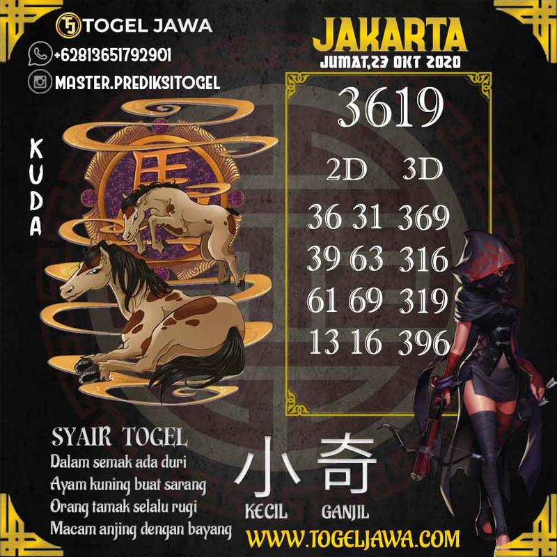 Prediksi Jakarta Tanggal 2020-10-23