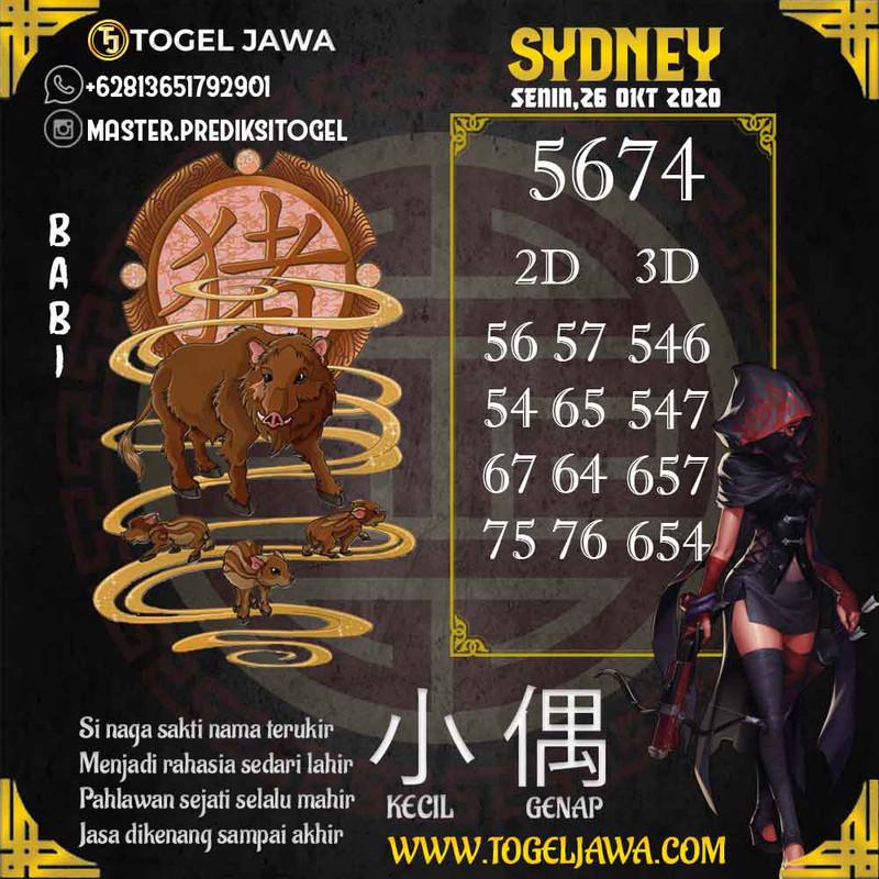 Prediksi Sydney Tanggal 2020-10-26