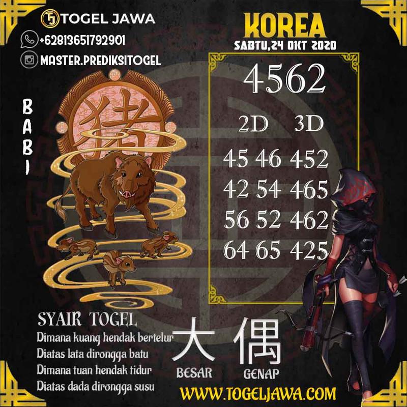 Prediksi Korea Tanggal 2020-10-24