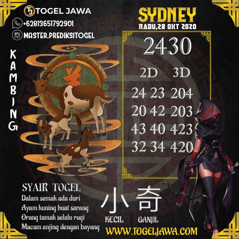 Prediksi Sydney Tanggal 2020-10-28
