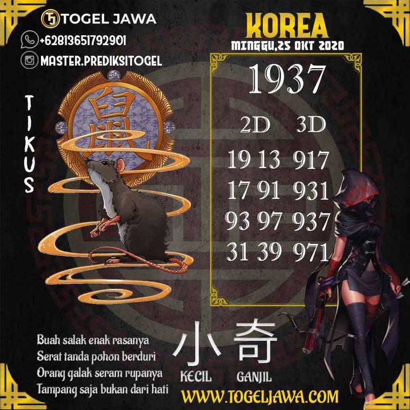 Prediksi Korea Tanggal 2020-10-25