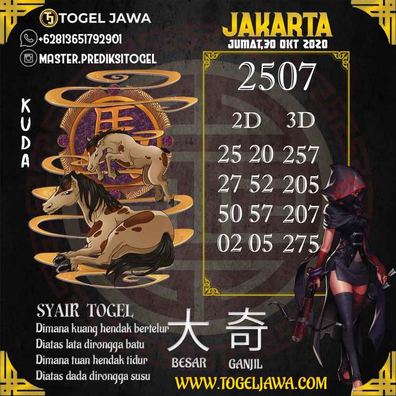 Prediksi Jakarta Tanggal 2020-10-30