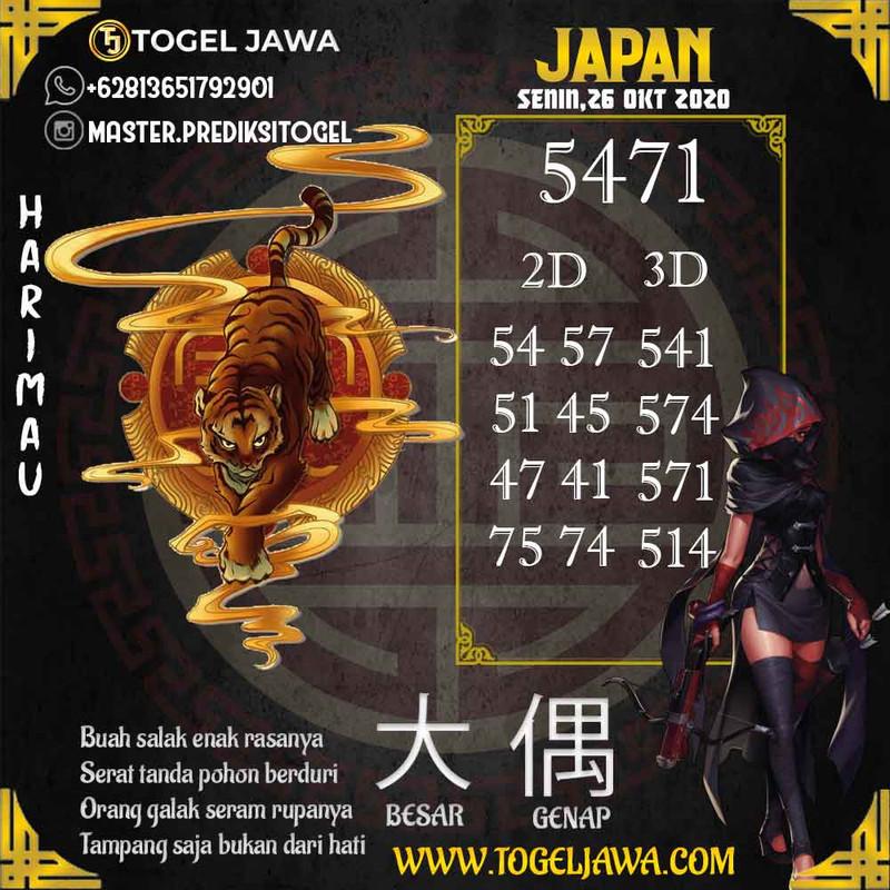 Prediksi Japan Tanggal 2020-10-26