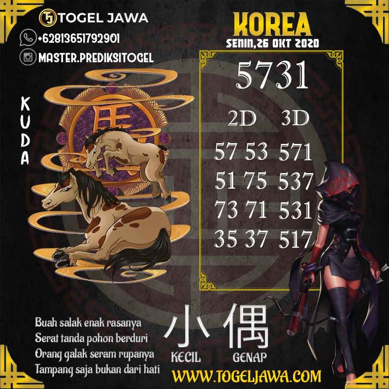 Prediksi Korea Tanggal 2020-10-26