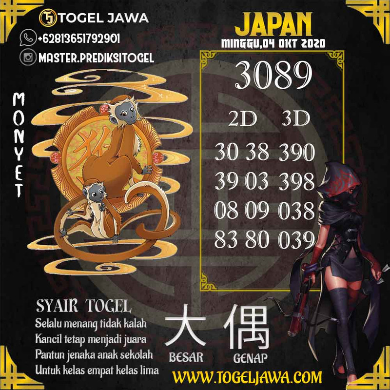 Prediksi Japan Tanggal 2020-10-04