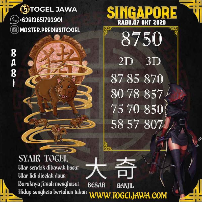 Prediksi Singapore Tanggal 2020-10-07