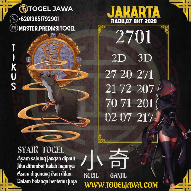 Prediksi Jakarta Tanggal 2020-10-07