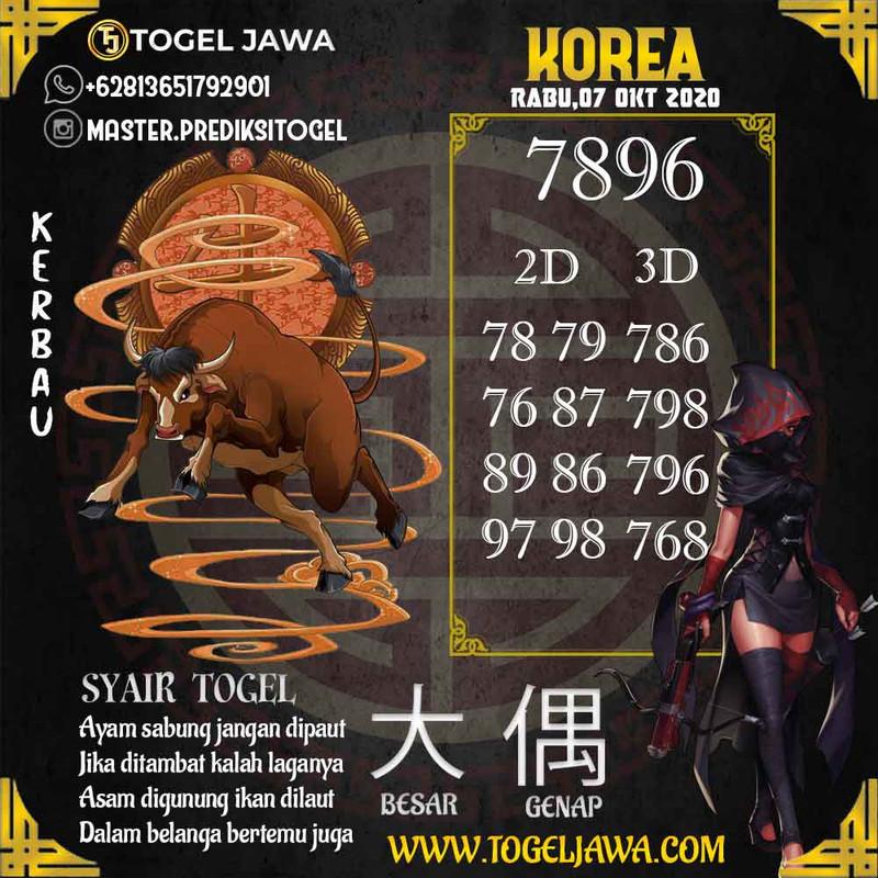 Prediksi Korea Tanggal 2020-10-07