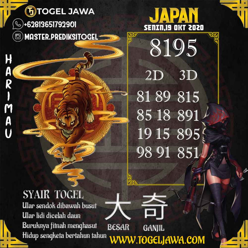 Prediksi Japan Tanggal 2020-10-19