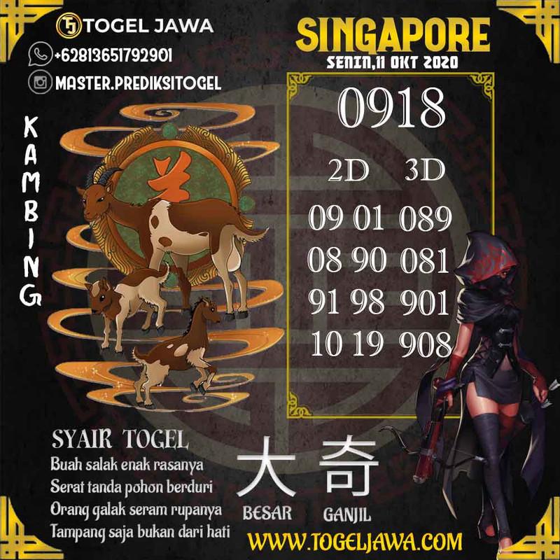 Prediksi Singapore Tanggal 2020-10-11