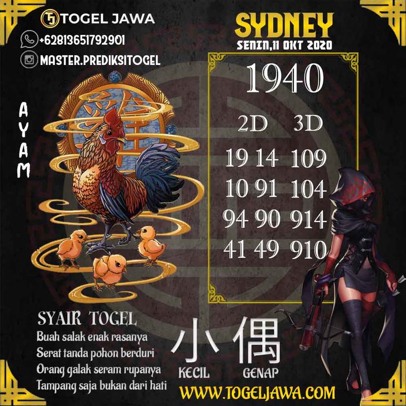 Prediksi Sydney Tanggal 2020-10-11