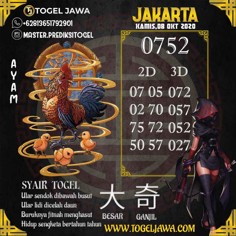 Prediksi Jakarta Tanggal 2020-10-08