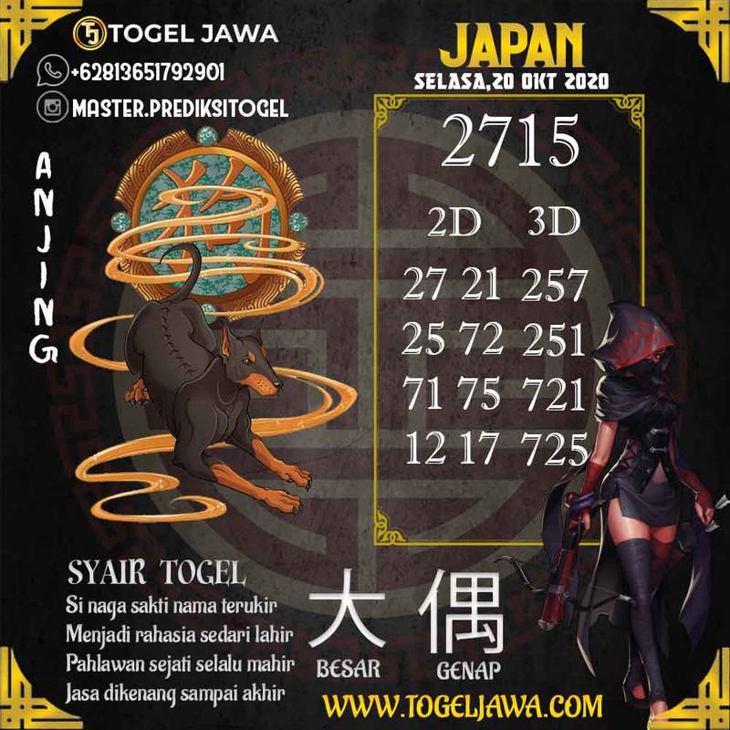 Prediksi Japan Tanggal 2020-10-20
