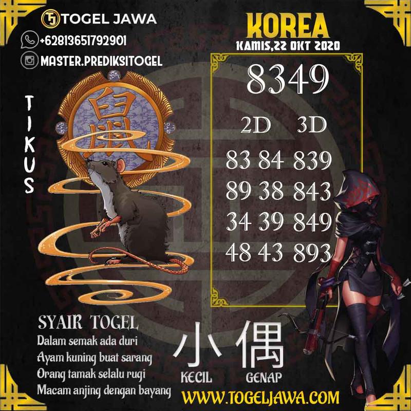 Prediksi Korea Tanggal 2020-10-22